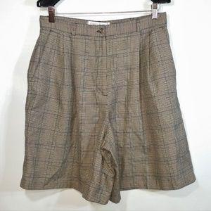 Plaid Tartan Pleated Shorts Vintage Style Golf EUC